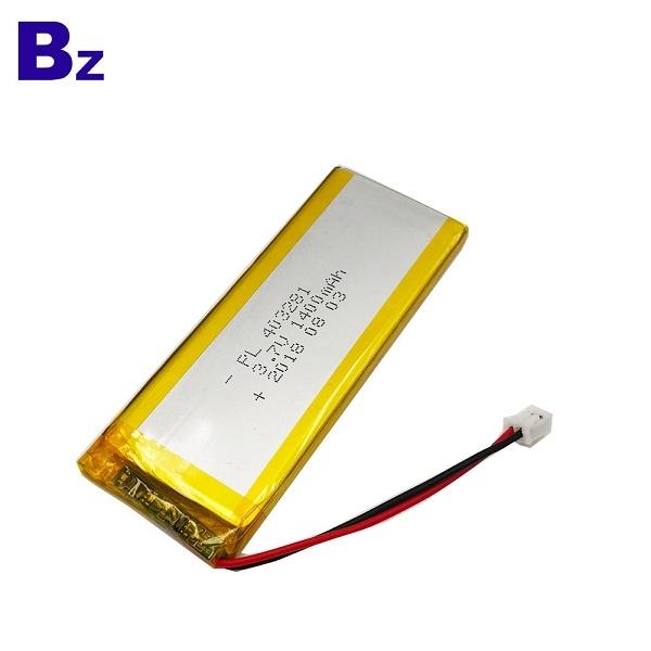 3.7V 1400mAh可充電鋰聚合物電池