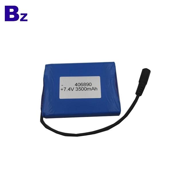 定制可充電鋰離子電池 BZ 406890 2S 7.4V 3500mAh 聚合物鋰離子電池