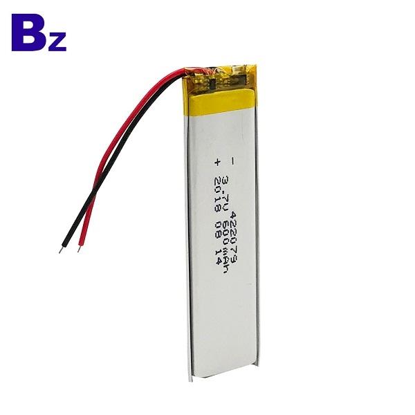 600mAh 3.7V聚合物鋰離子電池