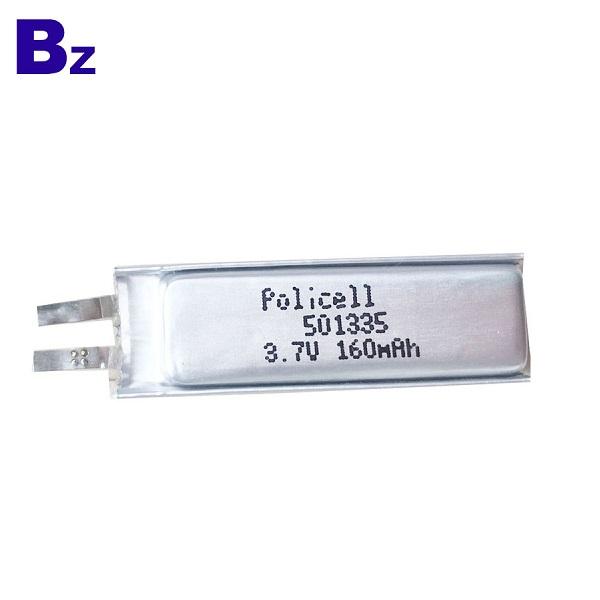 501335 用於數碼產品的 3.7V 160mAh LiPo電池