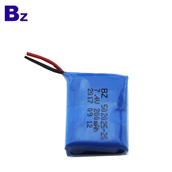 200mah 7.4V可充電聚合物鋰離子電池