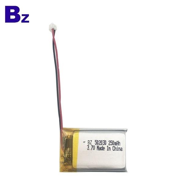 502030 250mAh 3.7V 可充電鋰聚合物電池