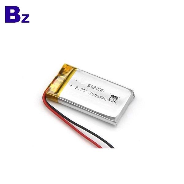 300mAh 3.7V鋰離子電池