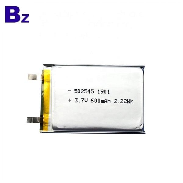 用於掃描儀的600mAh鋰電池