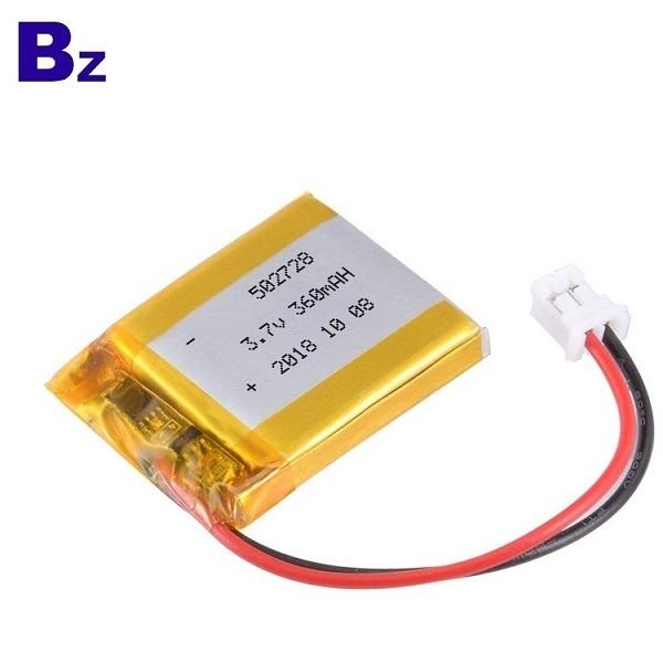 502728 360mAh 3.7V鋰電池