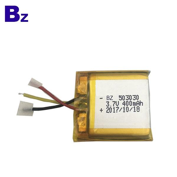 503030 400mAh 3.7V 鋰聚合物電池