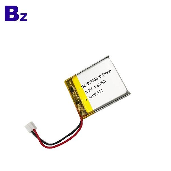 500mAh 3.7V KC認證鋰聚合物電池