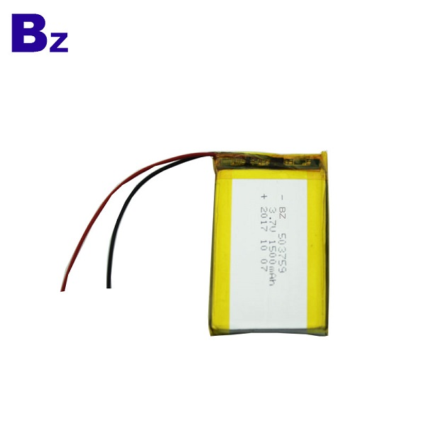 3.7V 1500mAh鋰離子聚合物電池