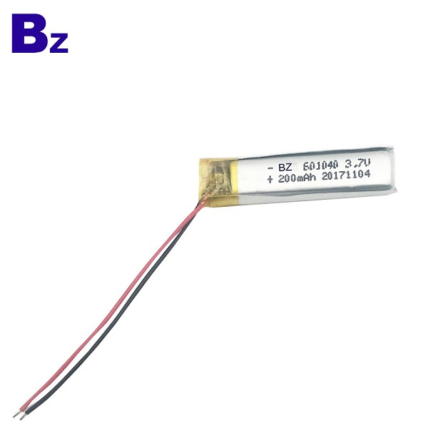 601040 3.7V 200mAh 鋰離子聚合物數碼電池