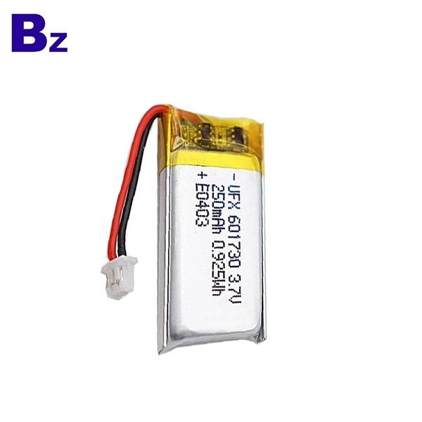 601730 3.7V 250mAh 鋰聚合物電池