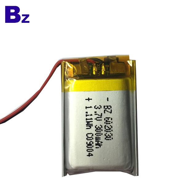 602030 300mAh 3.7V 鋰聚合物電池