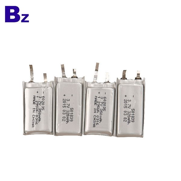 602035 350mAh 3.7V Lipo電池