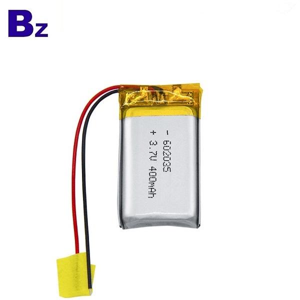 400mAh 3.7V鋰離子電池