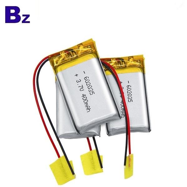 602035 400mAh 3.7V鋰離子電池