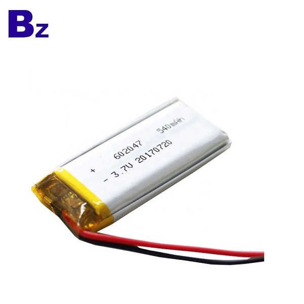 3.7V 540mAh鋰離子電池