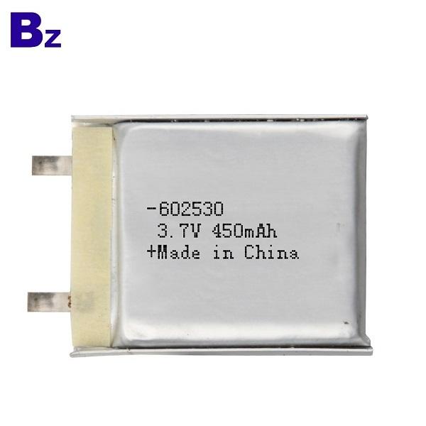 602530 450mAh 3.7V鋰離子電池電芯