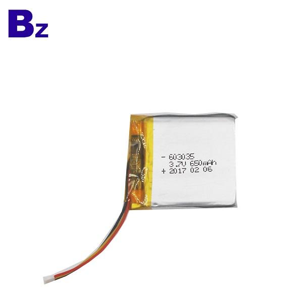 650mAh 鋰聚合物電池