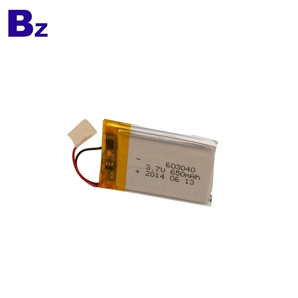 650mAh 3.7V鋰電池