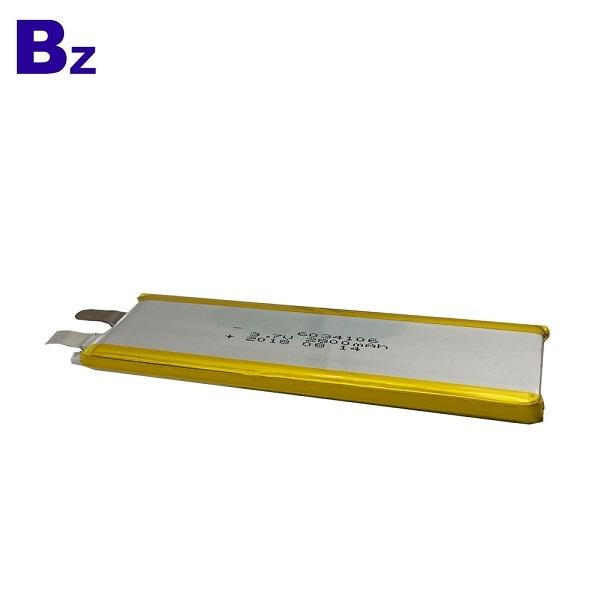 2800mAh 3.7V聚合物鋰離子電池