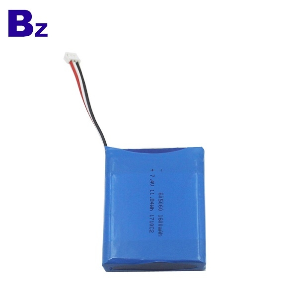 批發熱銷可充電鋰電池 BZ 605060-2S 7.4V 1600mAh 聚合物鋰離子電池