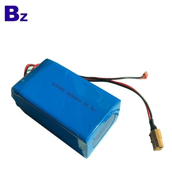 定制 BZ 605080-7S 25.9V 3000mAh 聚合物鋰離子電池組