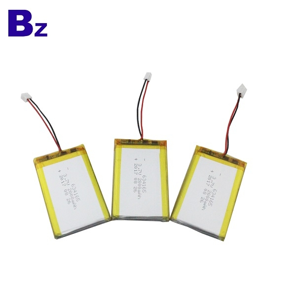 634165 2000mah 3.7V 鋰電池