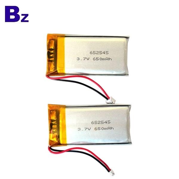 652545 650mAh 3.7V鋰電池