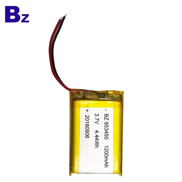 ODM 1200mah 3.7V鋰聚合物電池