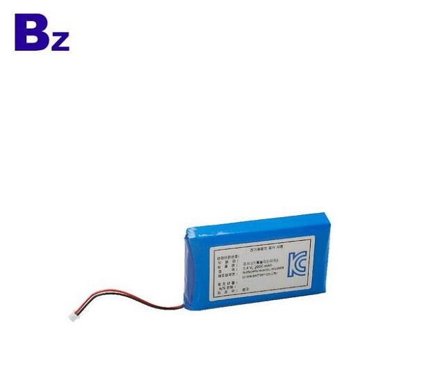 7.4V 2000mah醫用產品充電式鋰電池