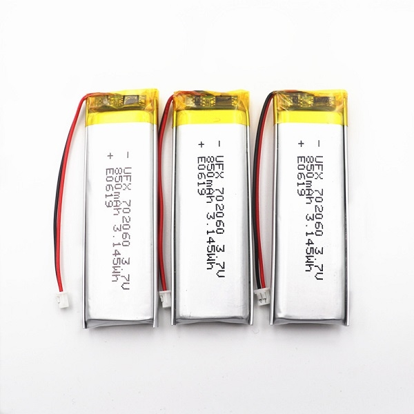 3.7V 850mAh鋰電池