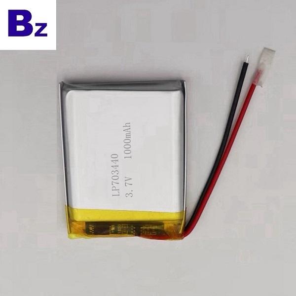 703440 1000mAh 3.7V鋰電池