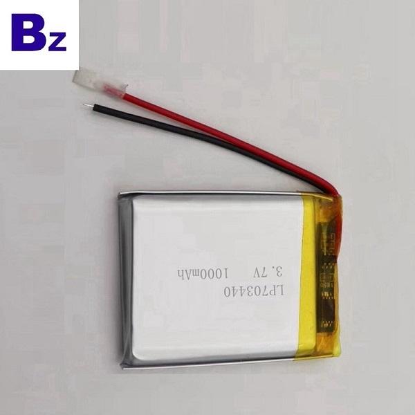 用於車載DVR設備的1000mAh鋰電池