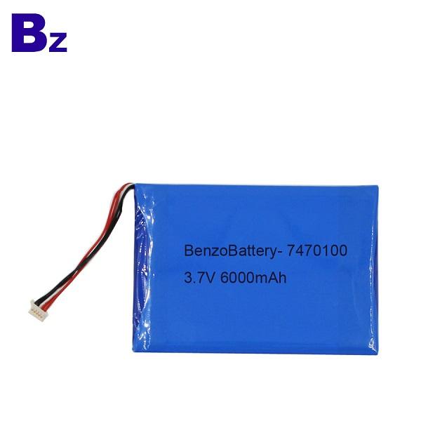 7470100 6000mah 3.7V 適用於醫療產品的鋰電池