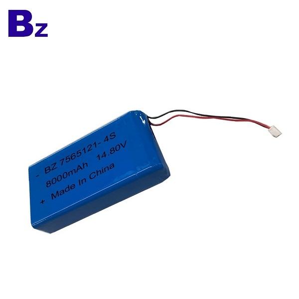 熱銷可充電聚合物鋰離子電池 BZ 7565121-4S 14.8V 8000mAh 鋰電池組