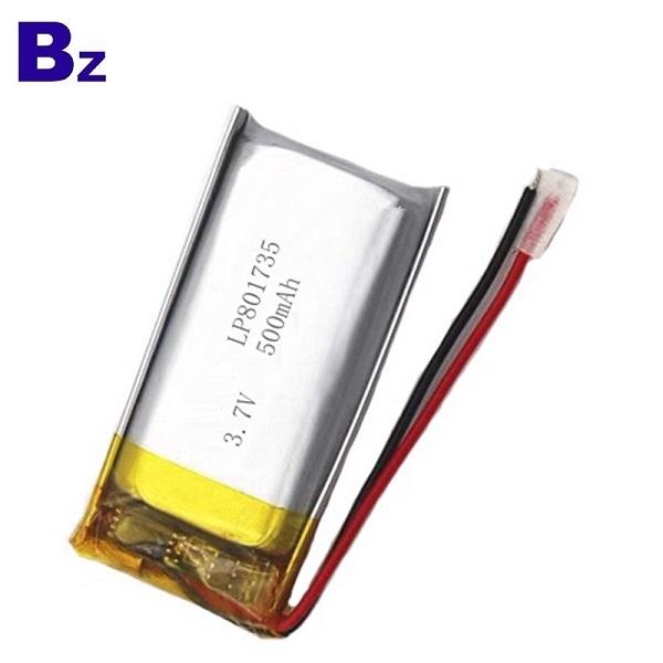 801735 500mAh 3.7V鋰電池