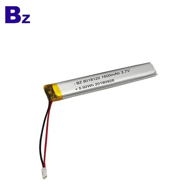 ODM 1600mAh 3.7V鋰電池