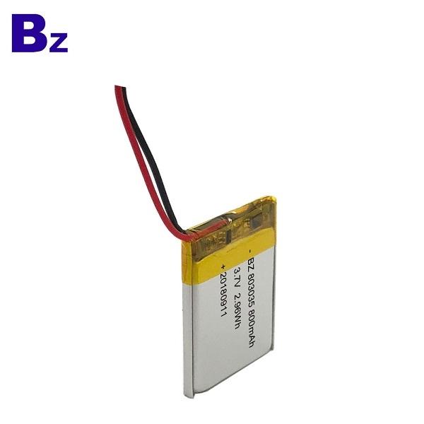 3.7V 800mAh KC認證鋰電池