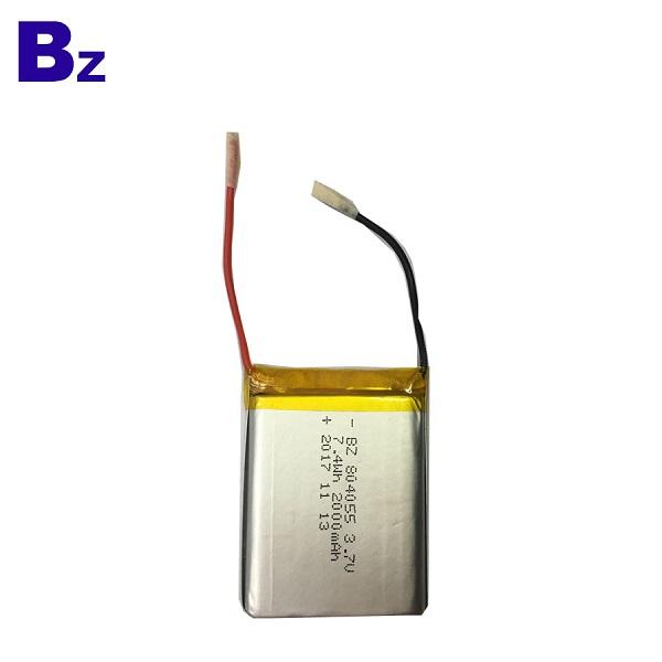 804055 7.4V 2000mAh LiPo 電池