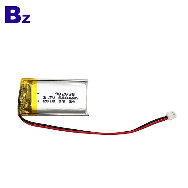 600mAh 3.7V鋰離子電池