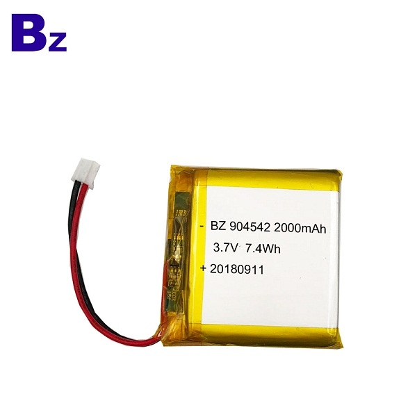 2000mAh 3.7V鋰電池