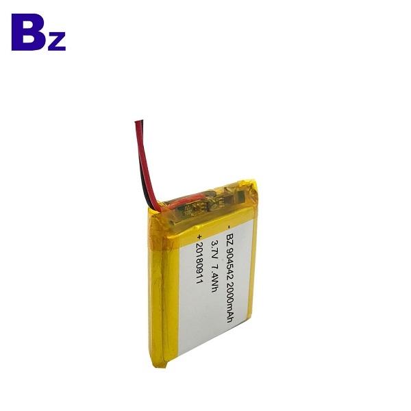ODM 2000mAh 3.7V鋰電池