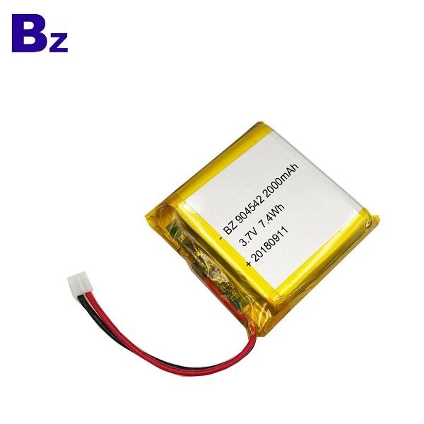 用於補水儀器的2000mAh 鋰電池