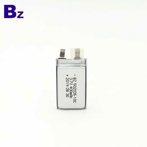 502035-10C 400mAh 3.7V鋰聚合物
