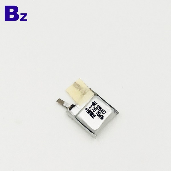 551417-10C 75mAh 3.7V鋰聚合物電池