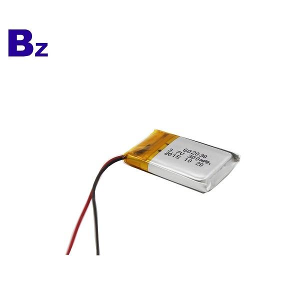 602030 300mAh 3.7V鋰聚合物電池