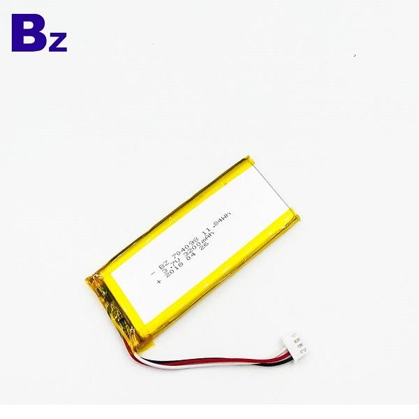 704098 3200mAh 3.7V聚合物鋰離子電池