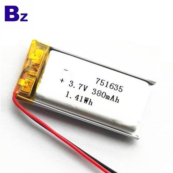 用於智能可穿戴設備的380mAh電池