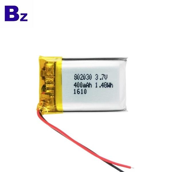802030 400mAh 3.7V鋰聚合物電池