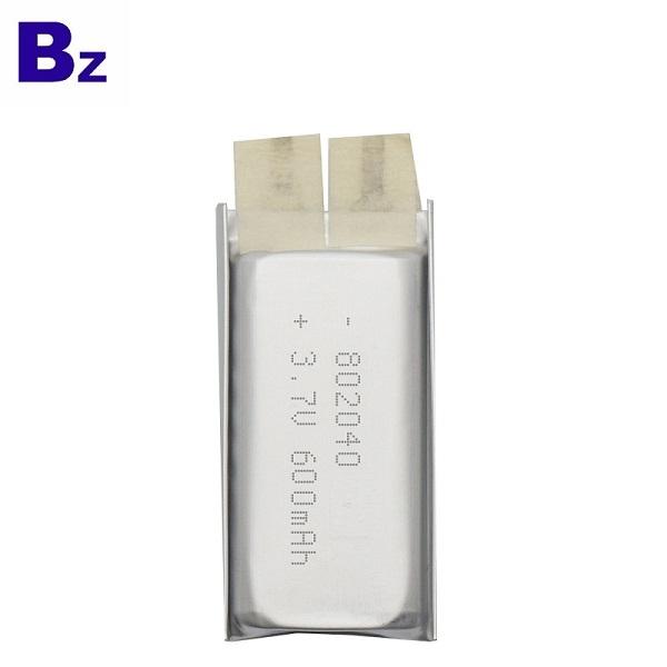 802040 600mAh 3.7V鋰聚合物電池