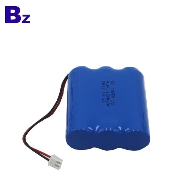1200mAh 9.6V可充電LiFePO4電池組